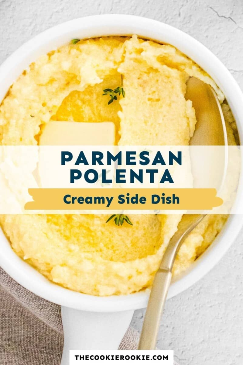 parmesan polenta pinterest collage
