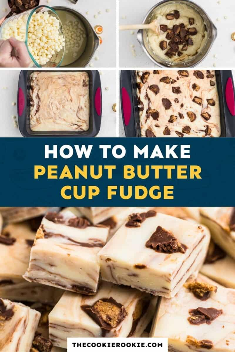 peanut butter cup fudge pinterest collage