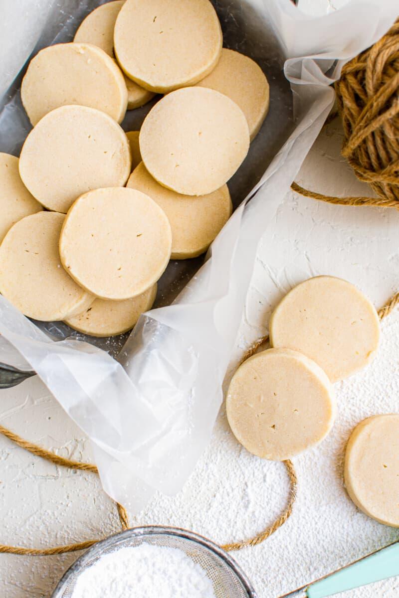 overhead image of shortbread cookies