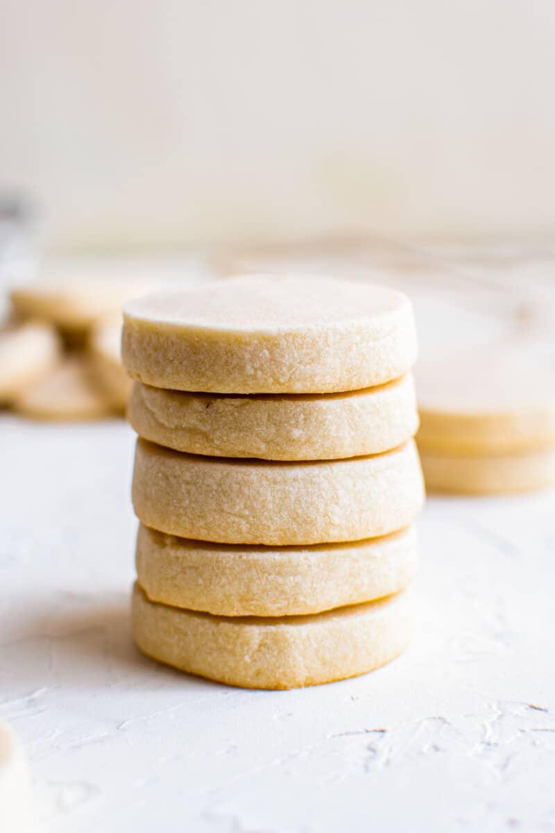 stacked shortbread cookies
