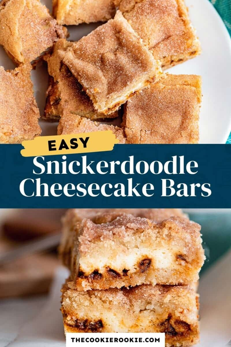 snickerdoodle cheesecake bars pinterest collage