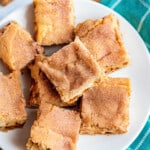 sugar cookie cheesecake bars on plate