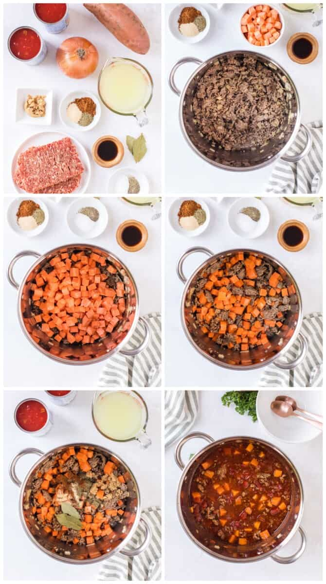 sweet potato chili step by step photos
