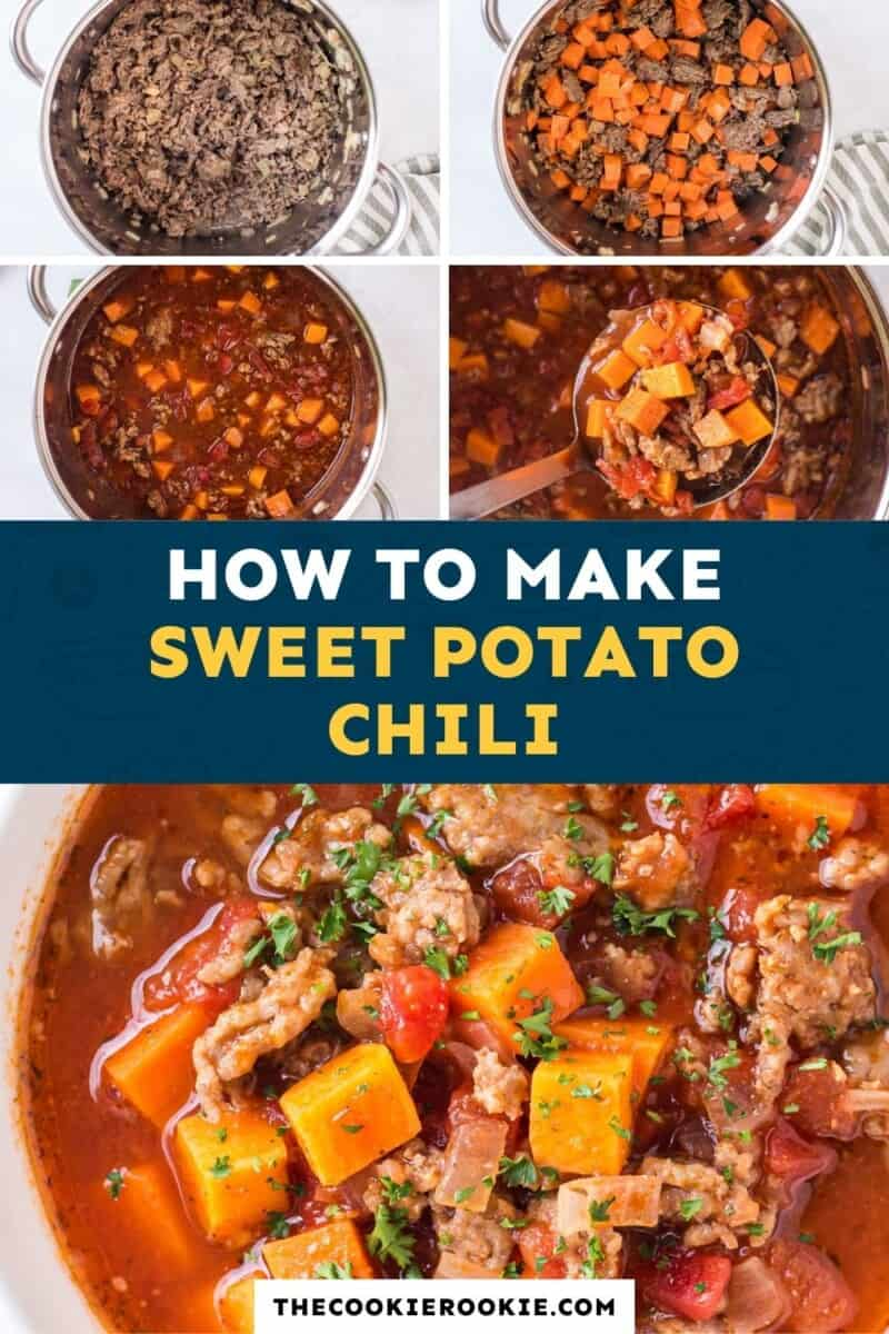 sweet potato chili pinterest collage
