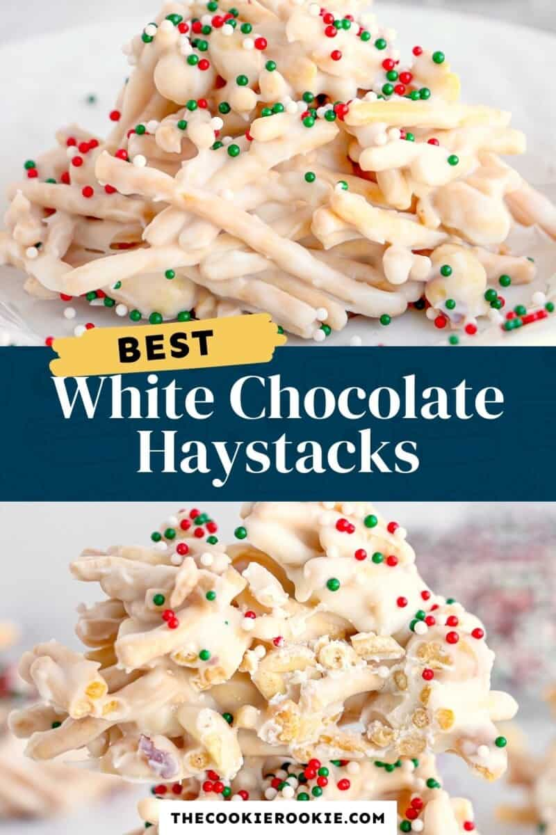 christmas crockpot white chocolate haystacks pinterest collage