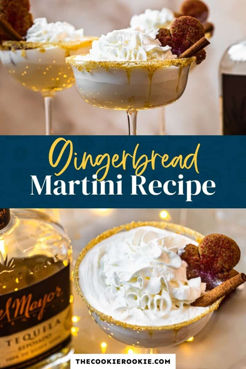 gingerbread martini pinterest collage