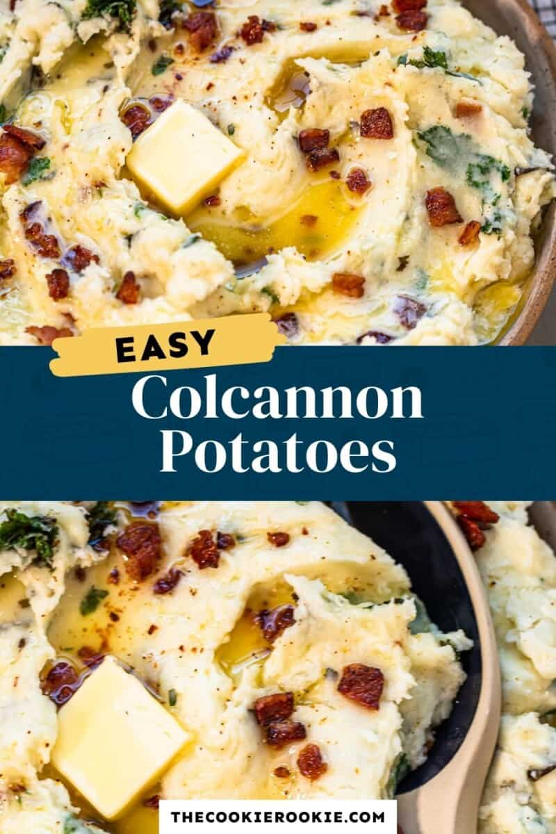 colcannon potatoes pinterest collage