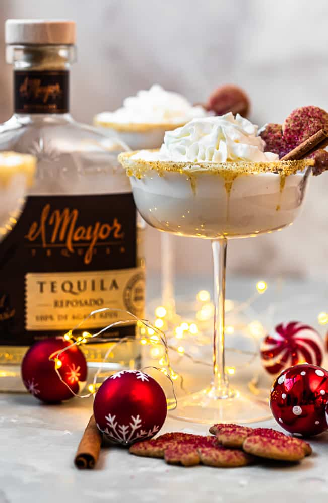 el mayor tequila next to gingerbread martinis