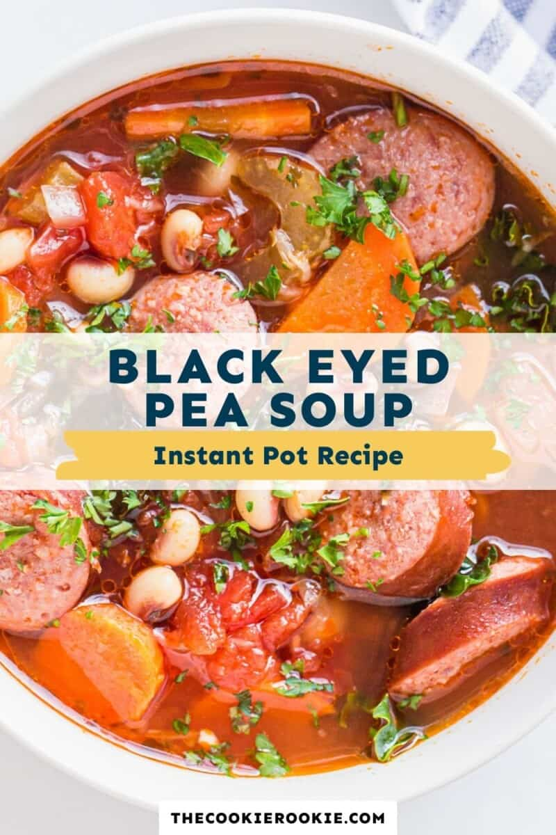 instant pot black eyed pea soup pinterest collage