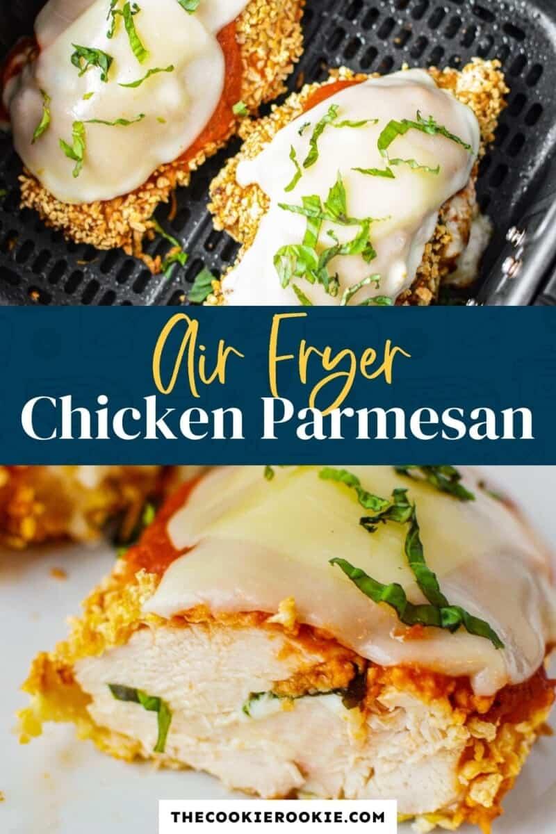 air fryer chicken parmesan pinterest collage