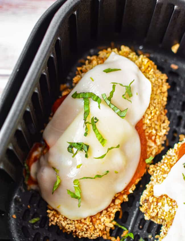 air fryer stuffed chicken parmesan in air fryer