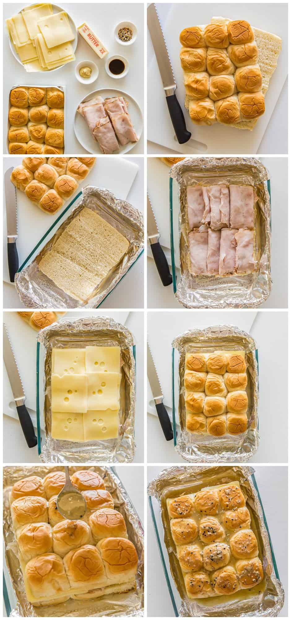 Step by step guide how to make turkey sliders.