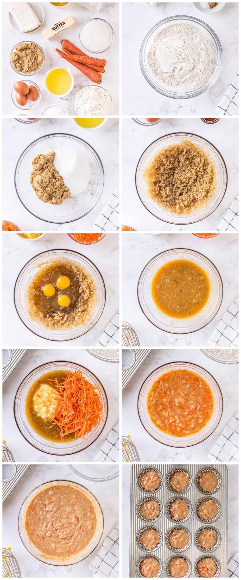 how to make carrot cake cupcakes