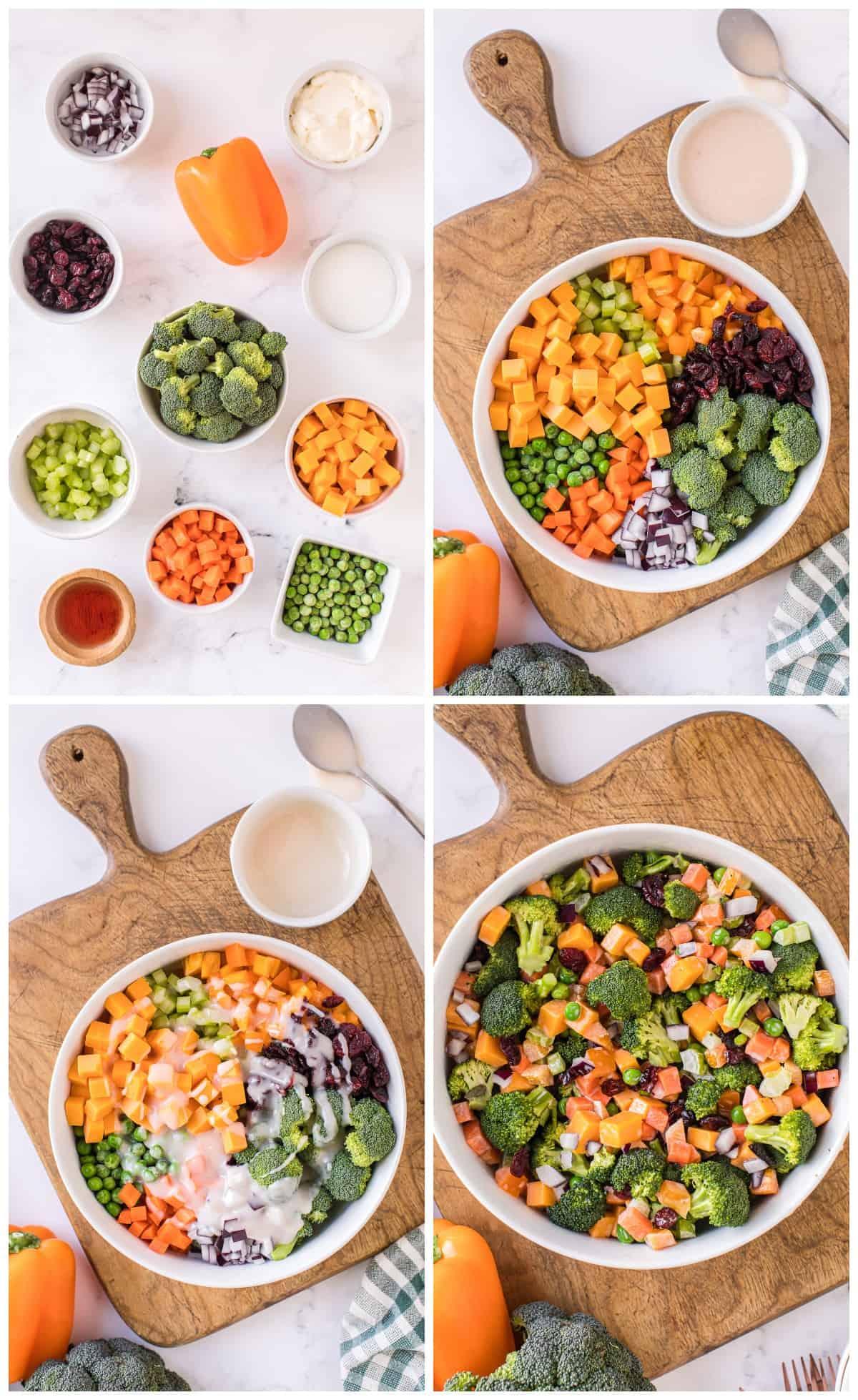 how to make cheesy broccoli salad
