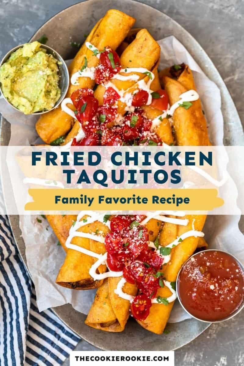 chicken taquitos pinterest collage