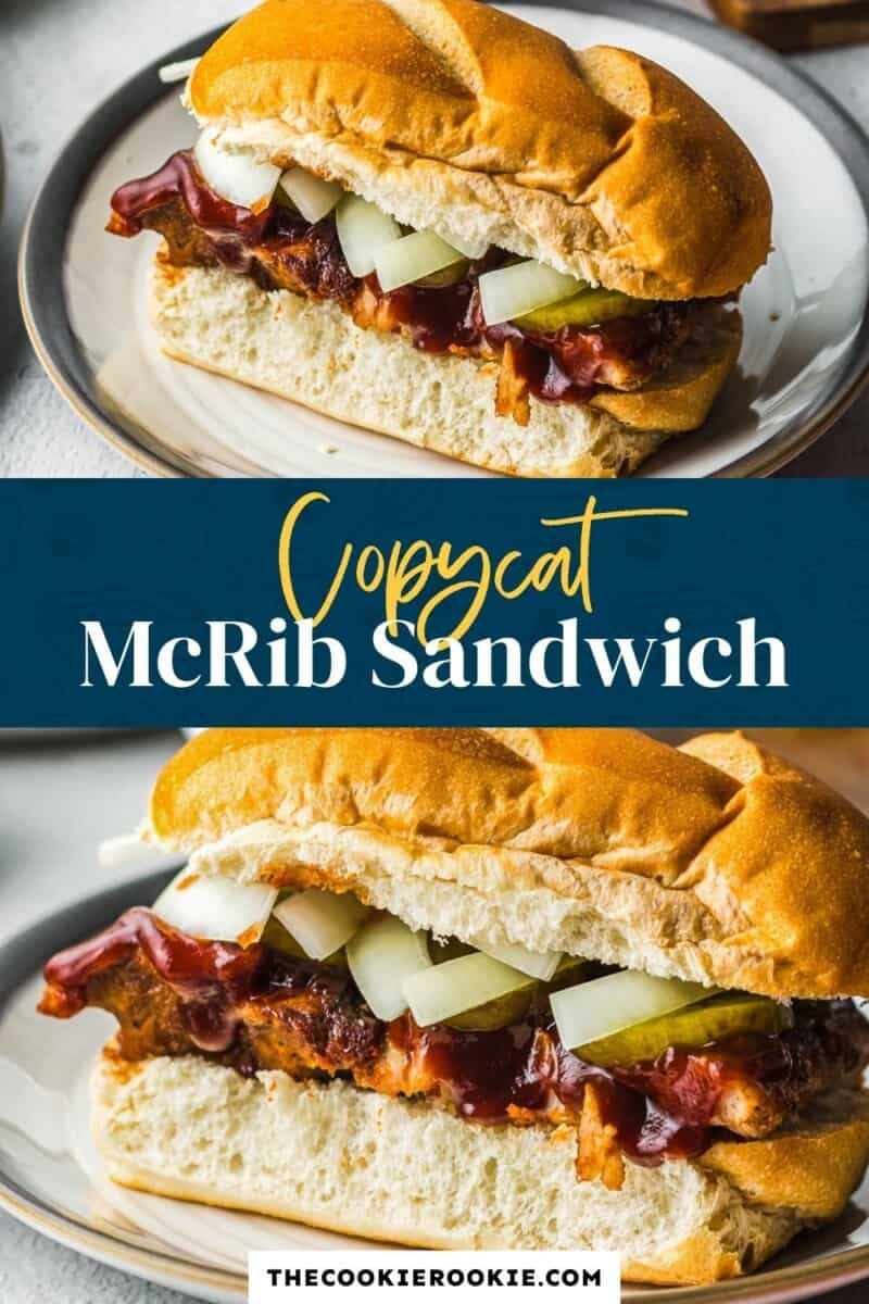 copycat mcrib sandwich pinterest collage