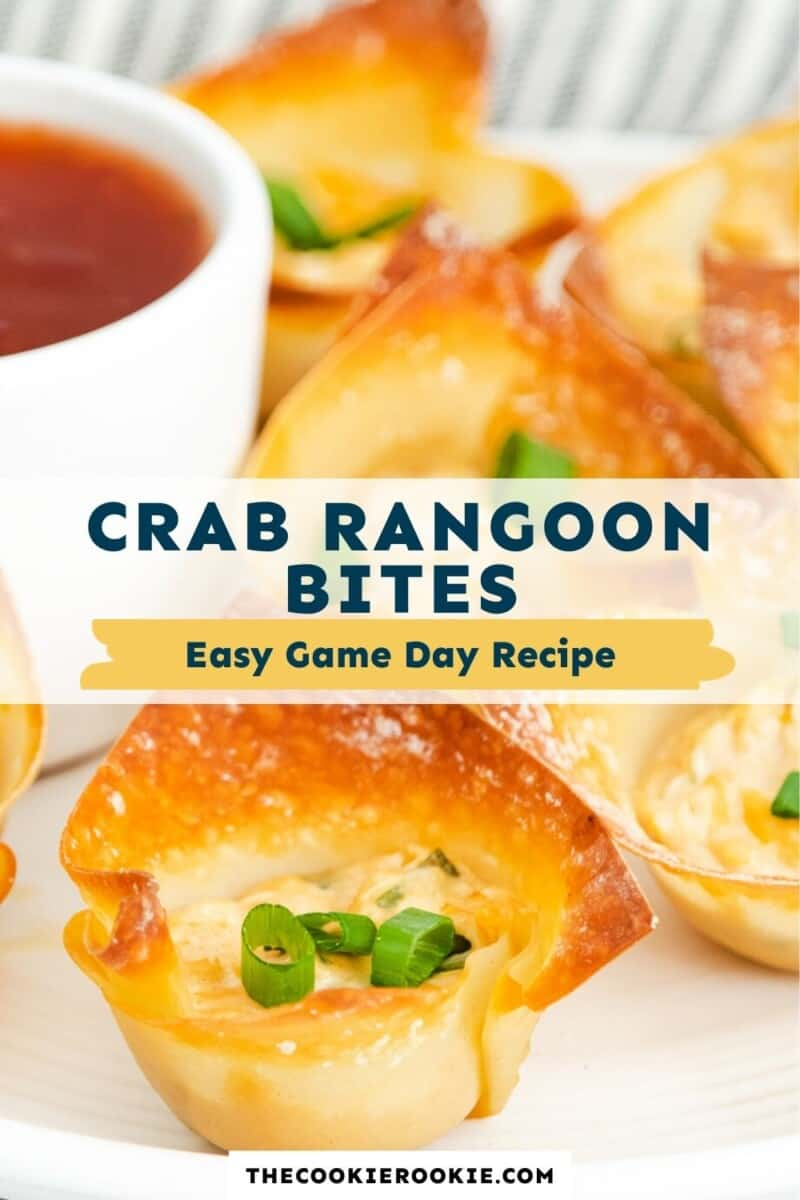 crab rangoon bites pinterest collage
