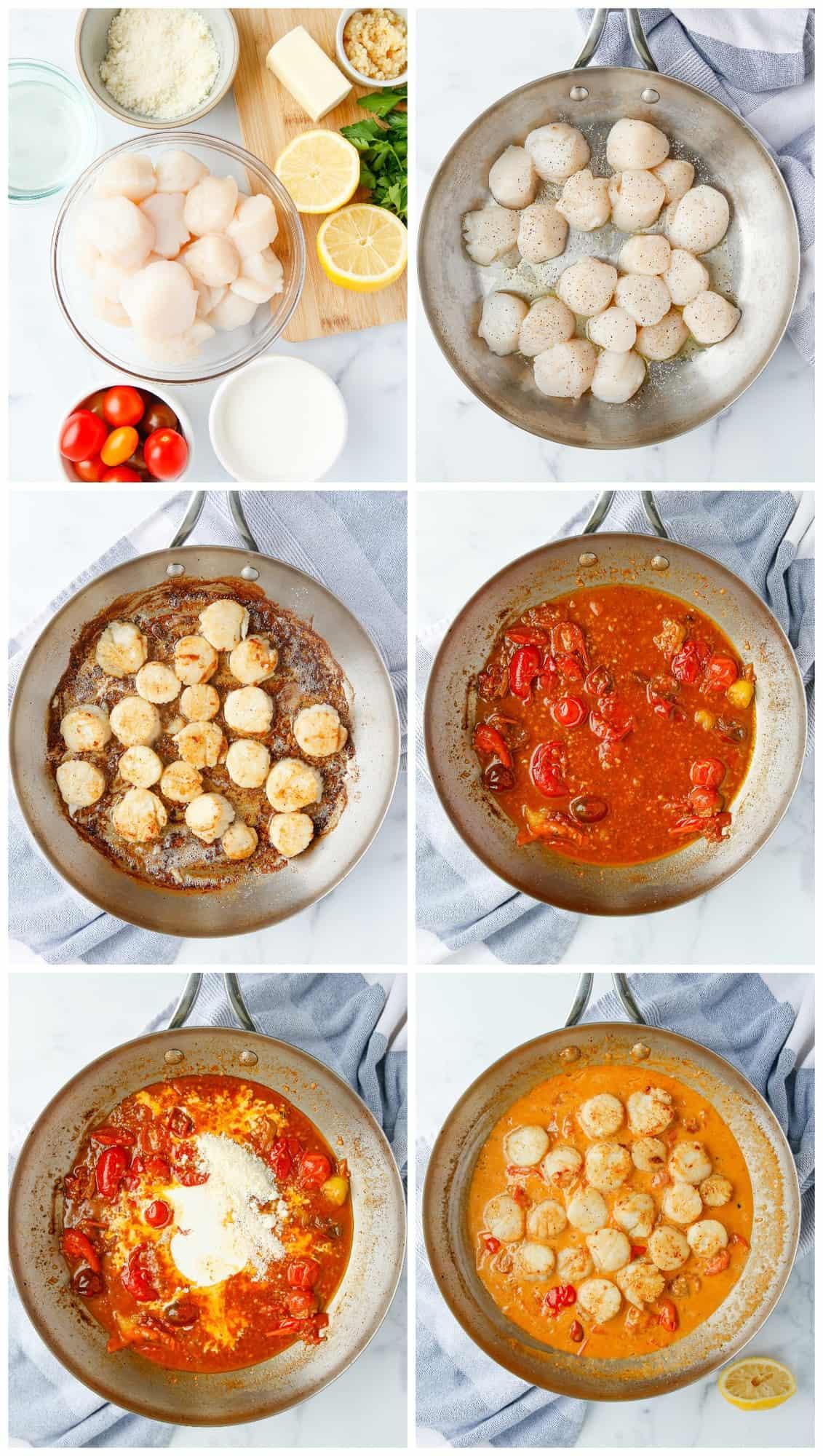 how to make creamy garlic scallops