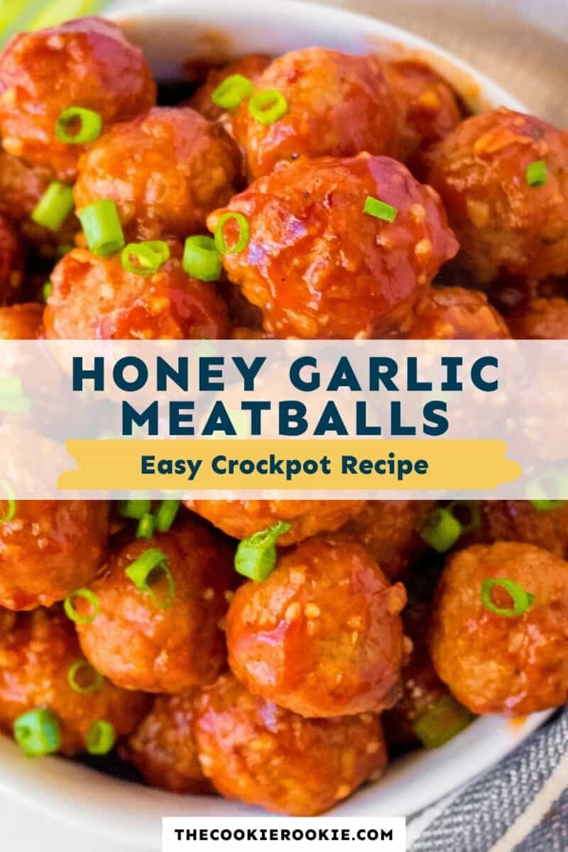 crockpot honey garlic meatballs pinterest collage