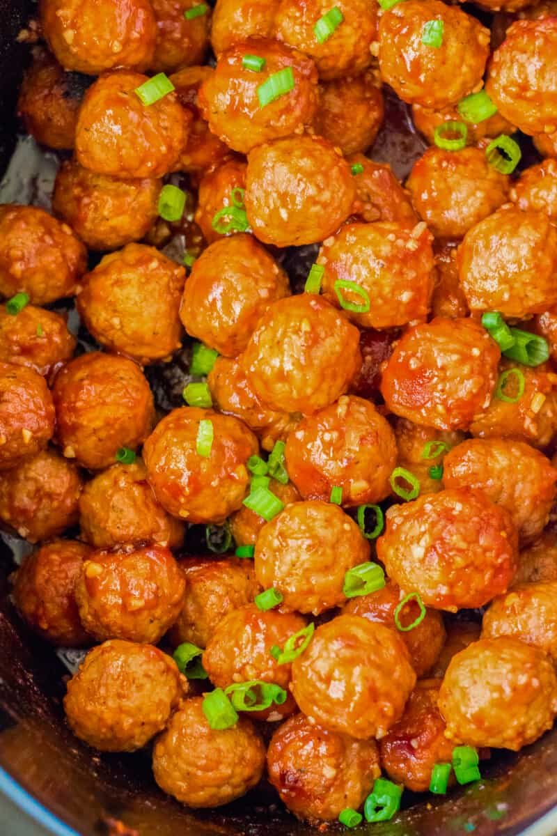 honey garlic meatballs in crockpot