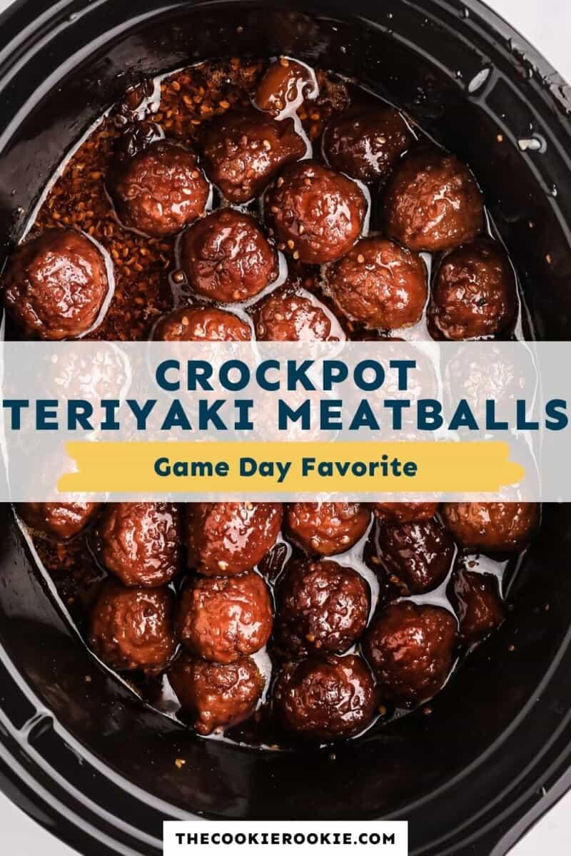 crockpot teriyaki meatballs pinterest collage