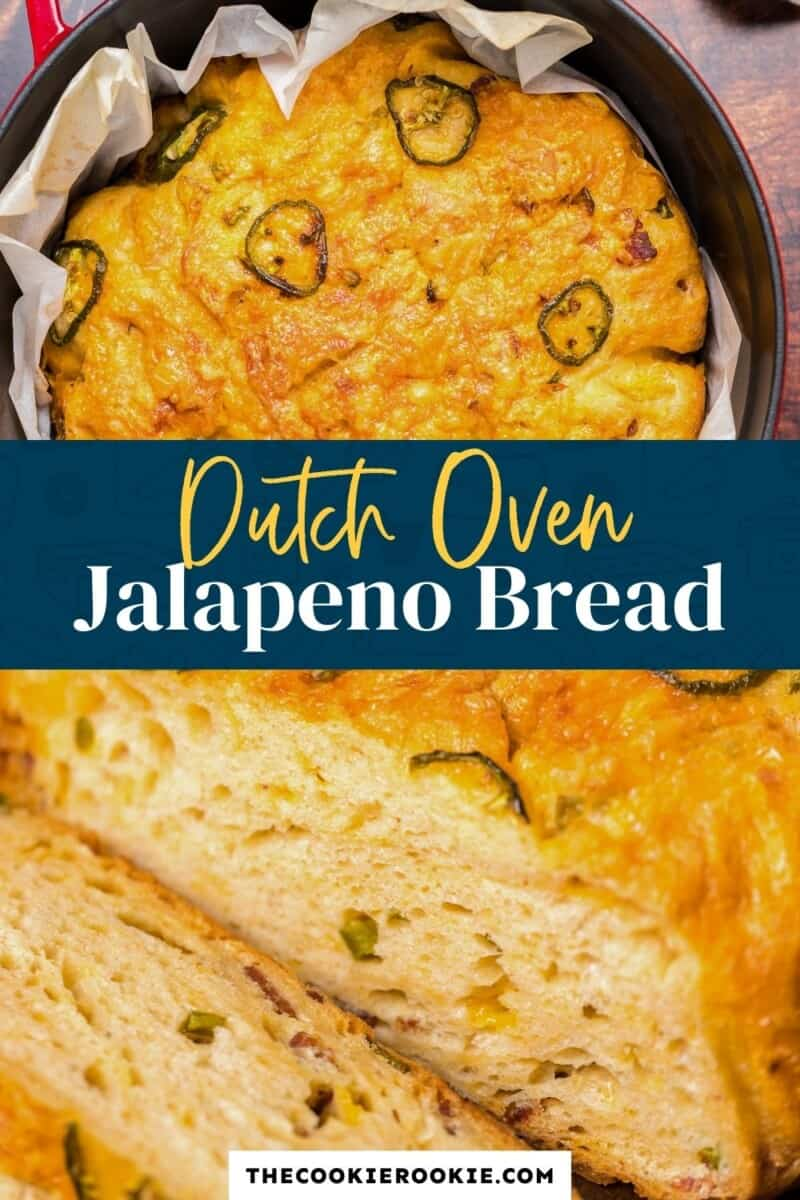 dutch oven jalapeno bread pinterest collage