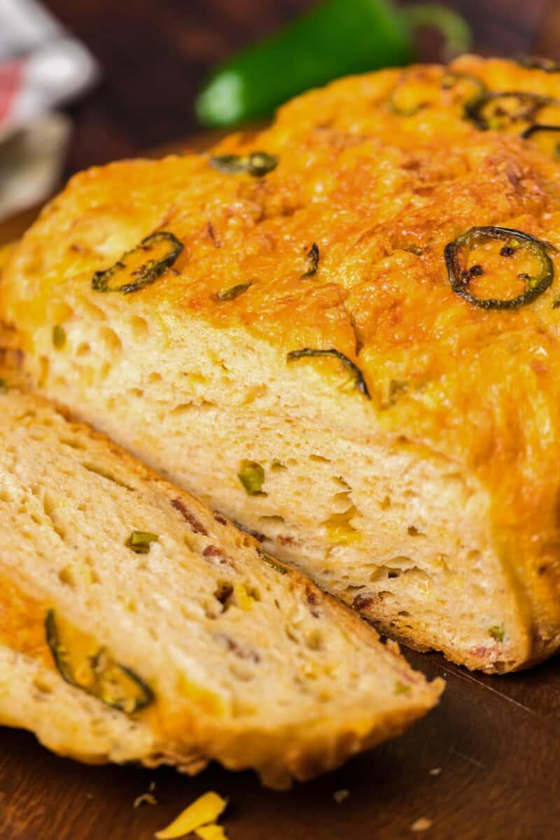 sliced jalapeno bread