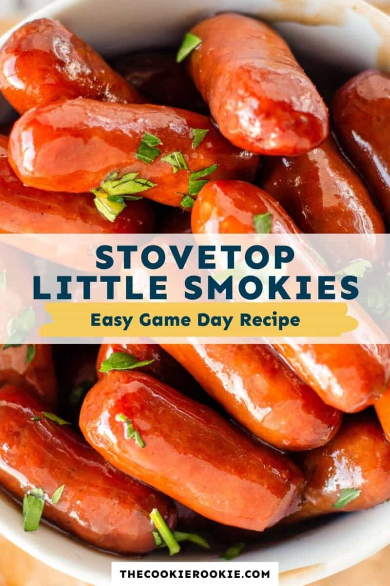 stovetop little smokies pinterest collage