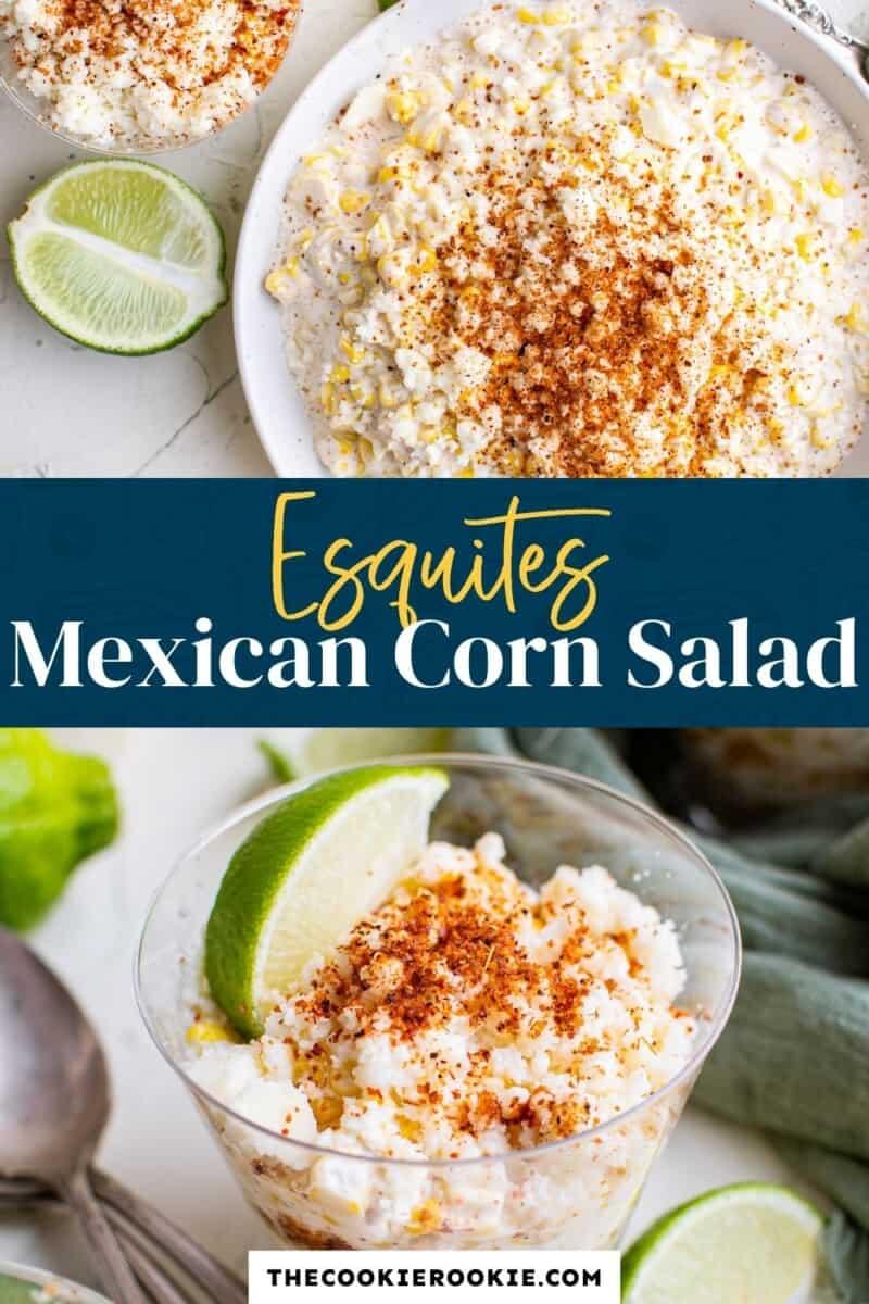 esquites mexican corn salad pinterest collage