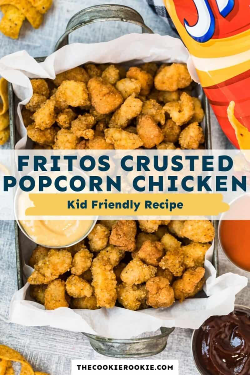 fritos crusted popcorn chicken pinterest collage