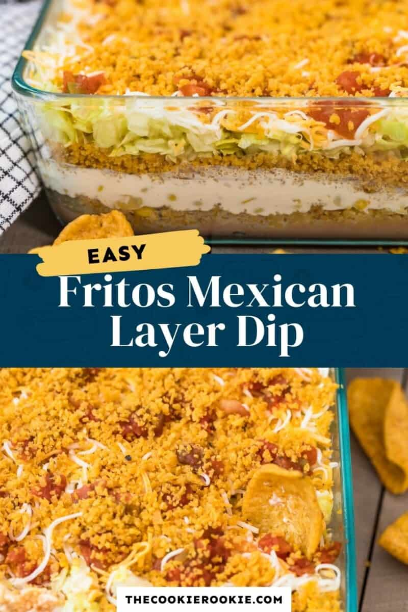 fritos mexican layer dip pinterest collage