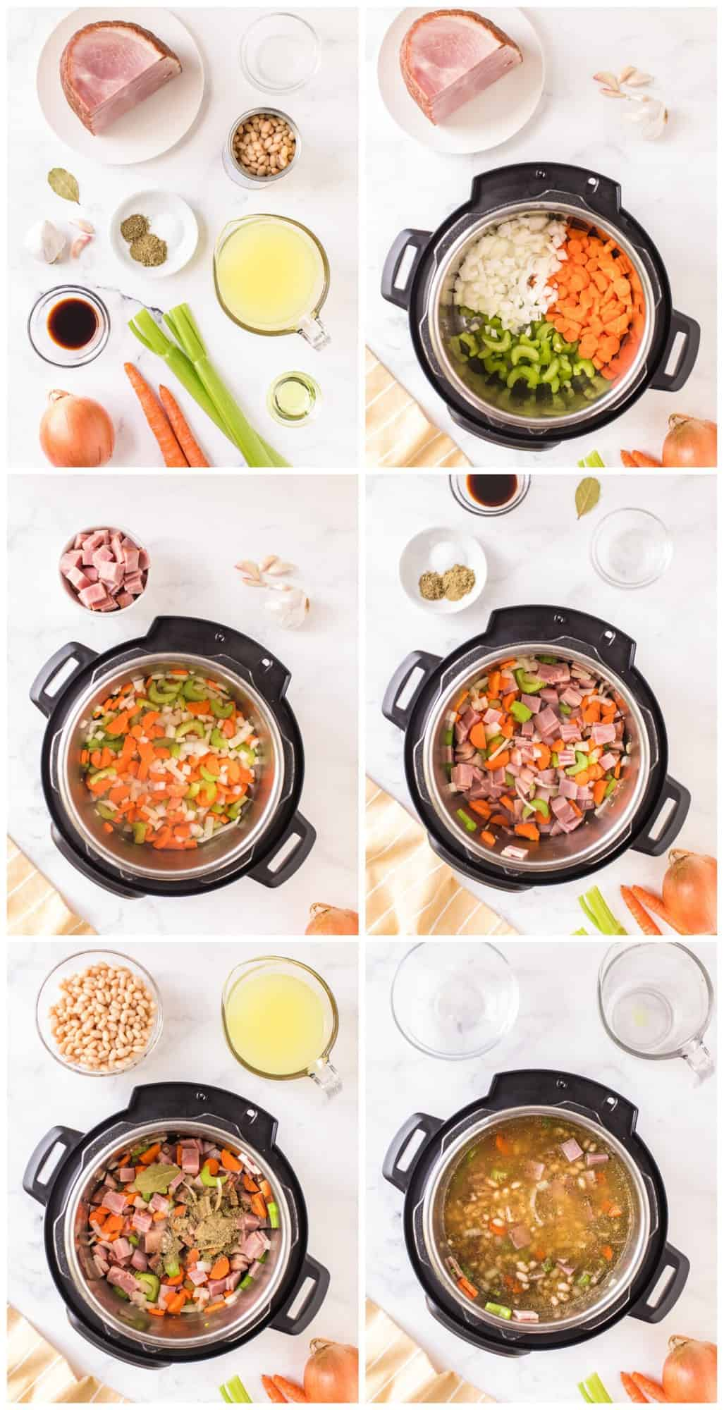 how to make instant pot ham and bean soup