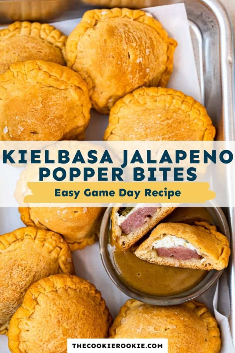 kielbasa jalapeno popper bites pinterest collage