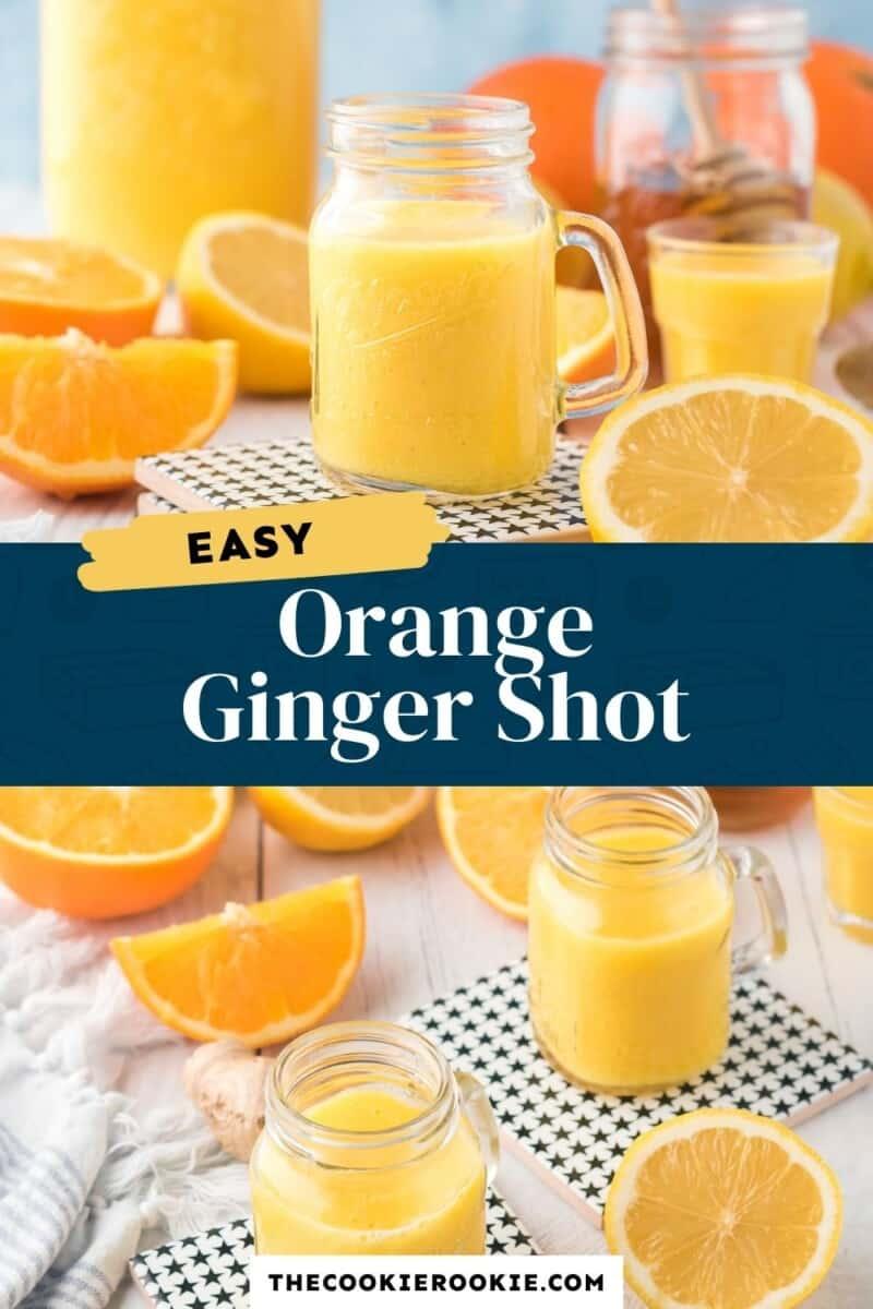 orange ginger shot pinterest collage