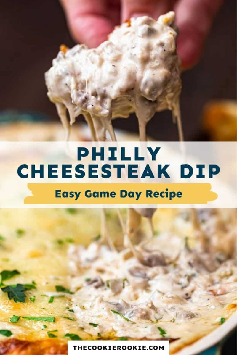 philly cheesesteak dip pinterest collage