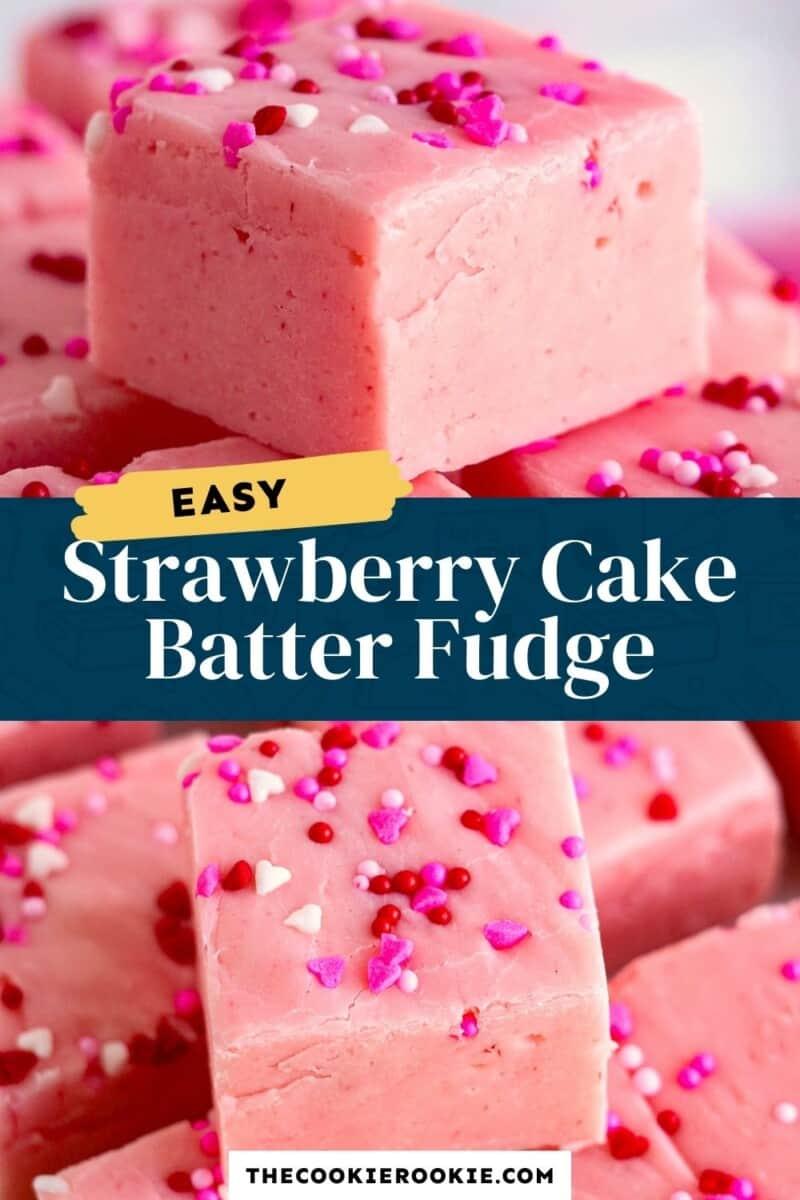 strawberry fudge pinterest collage