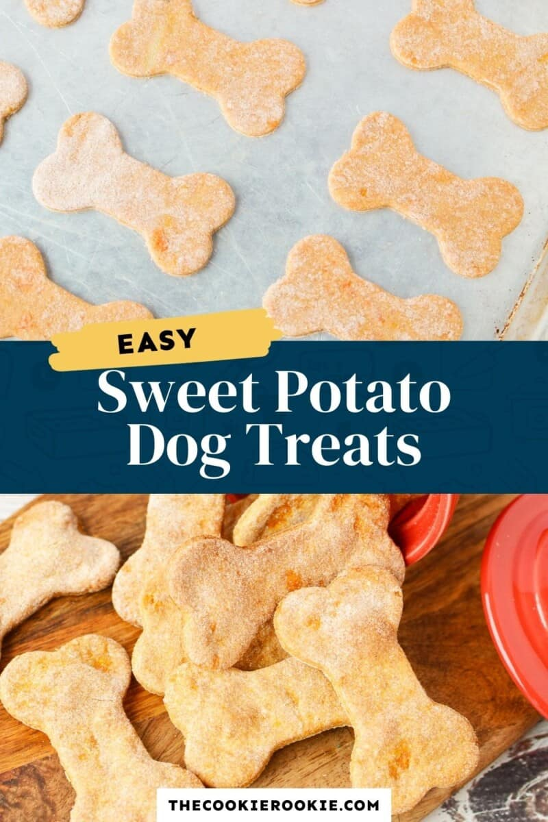 sweet potato dog treats pinterest collage