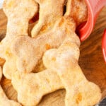 up close sweet potato dog treats