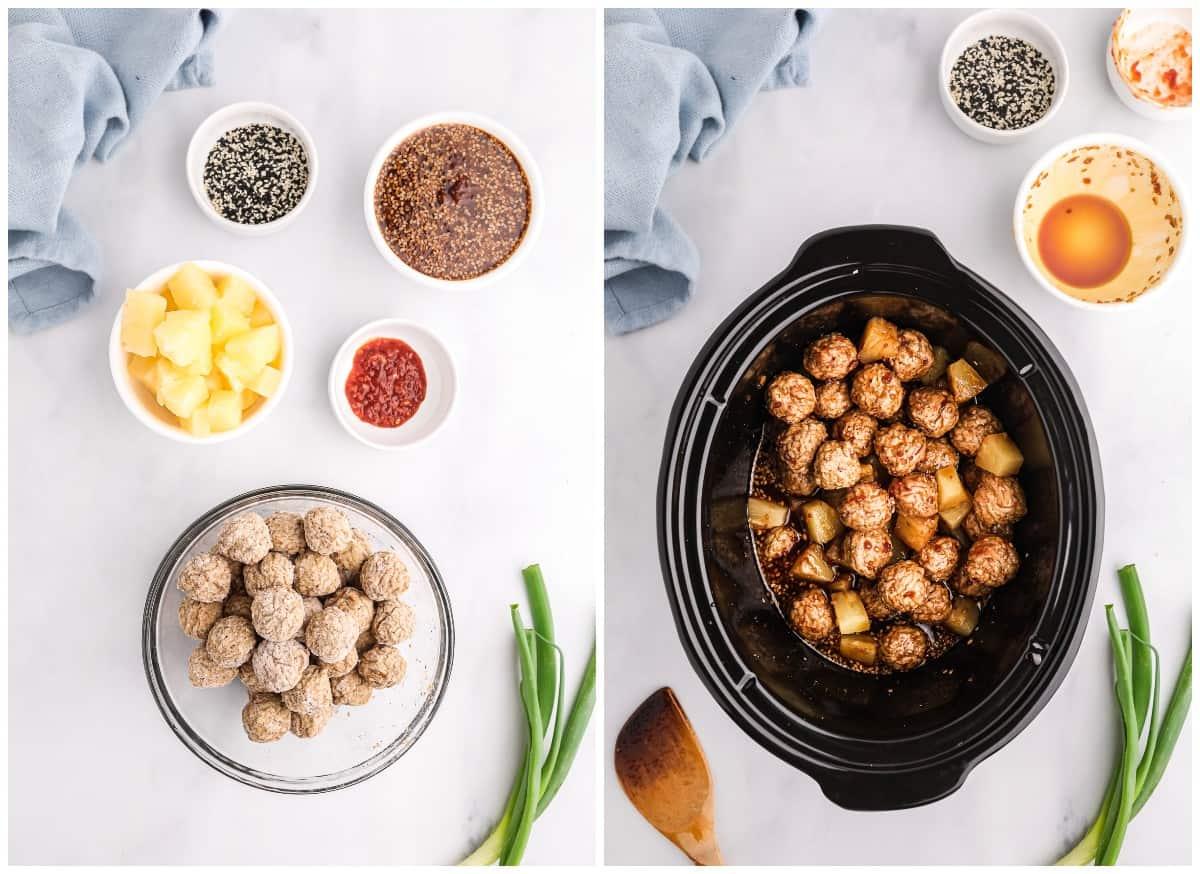How to make crockpot teriyaki meatballs.