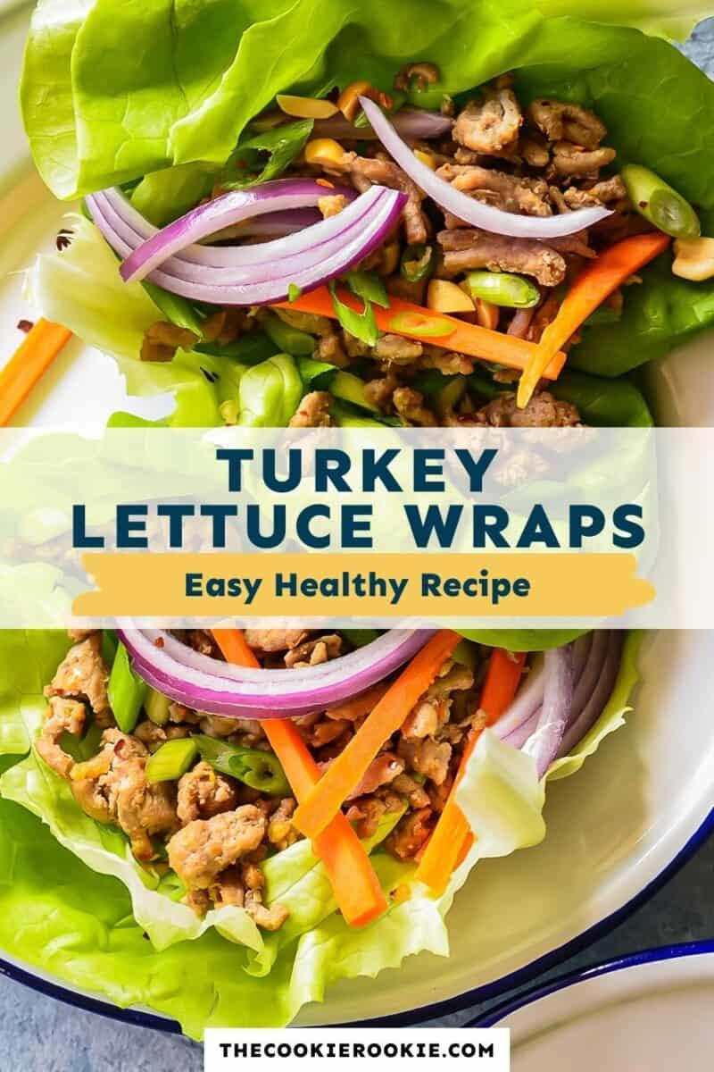 turkey lettuce wraps pinterest collage
