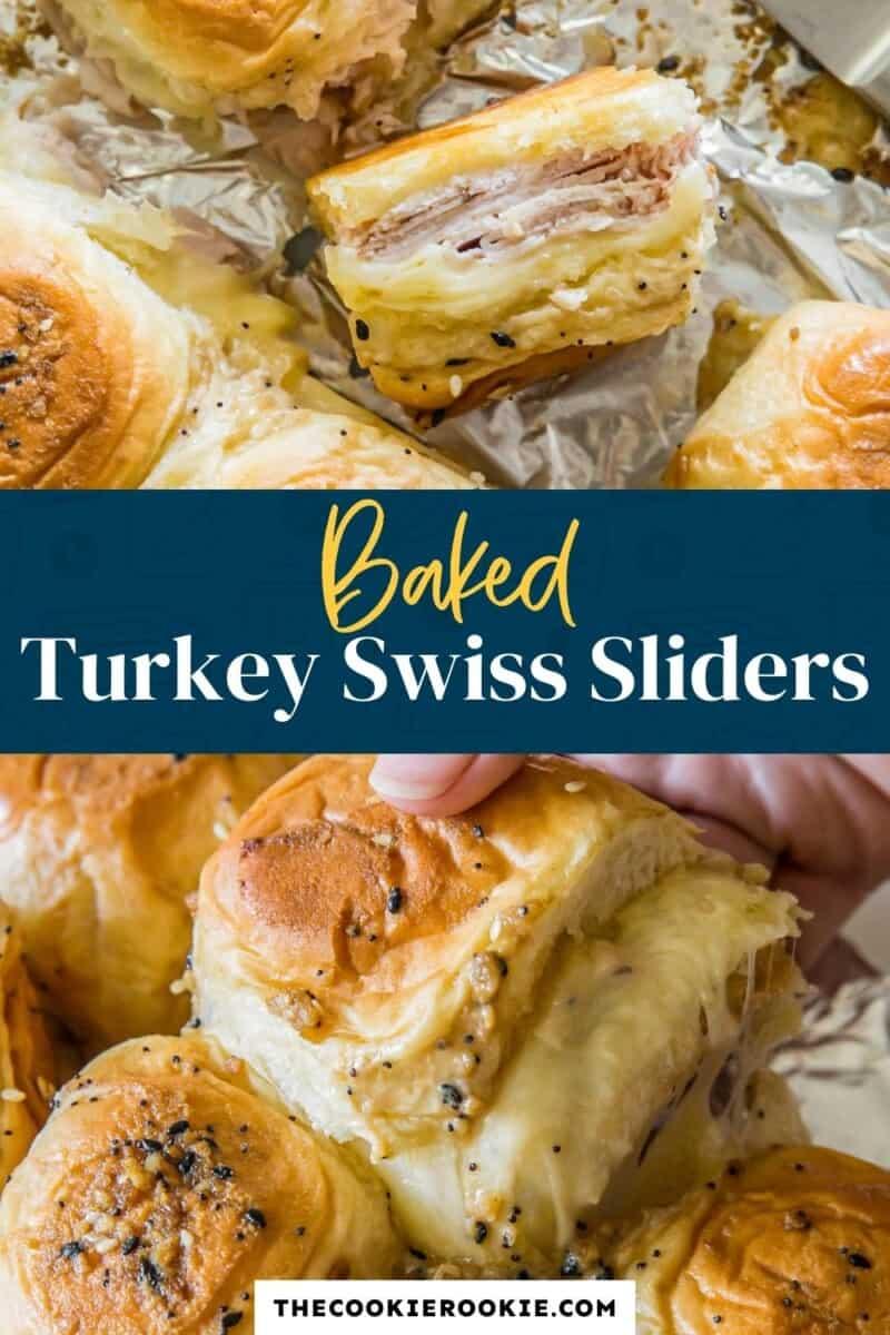 turkey cheese sliders pinterest collage