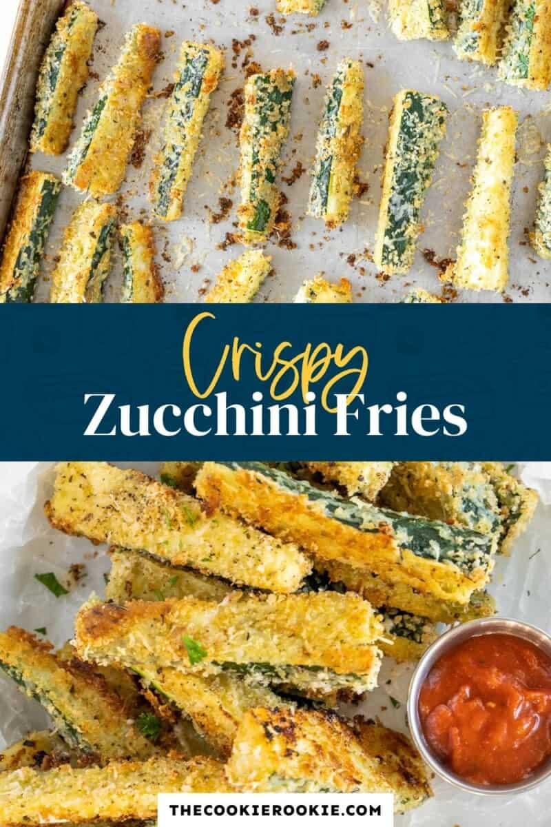 zucchini fries pinterest collage