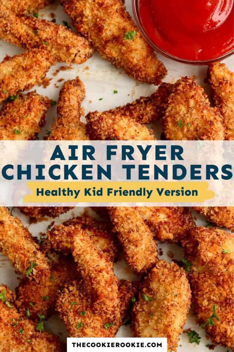 Air Fryer Chicken Tenders Pinterest Collage