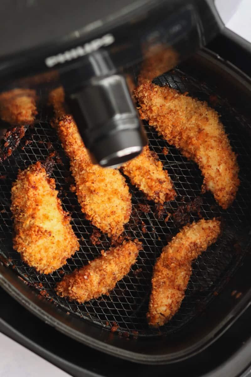 chicken tenders baked in an air fryer