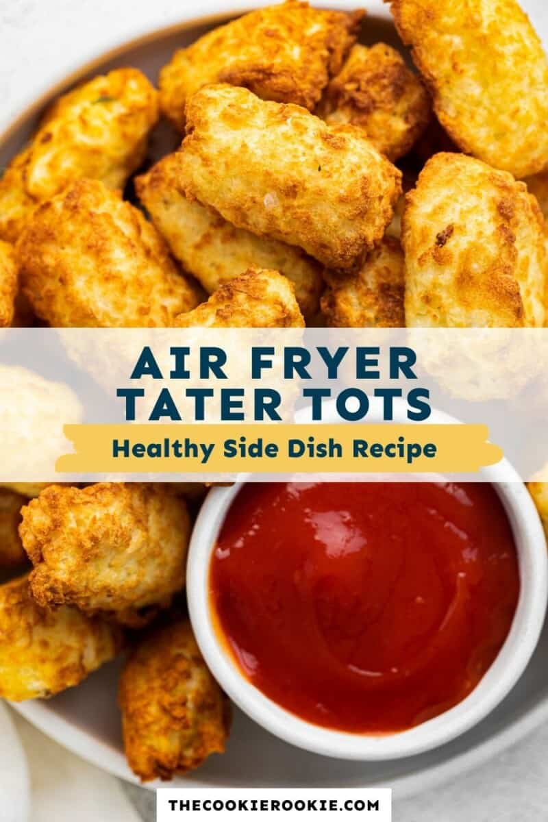 air fryer tater tots pinterest collage