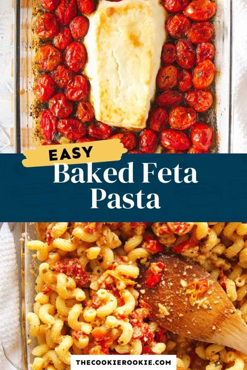 baked feta pasta pinterest collage