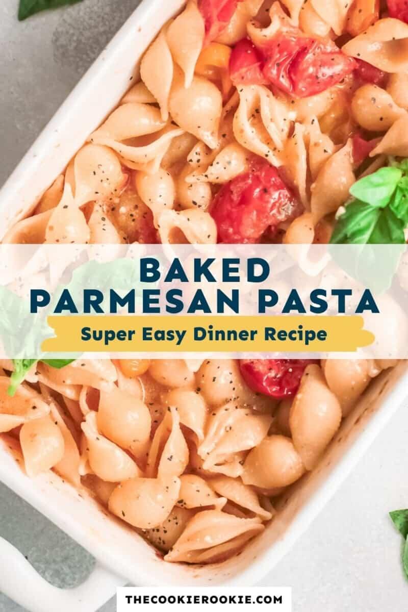 baked parmesan pasta pinterest
