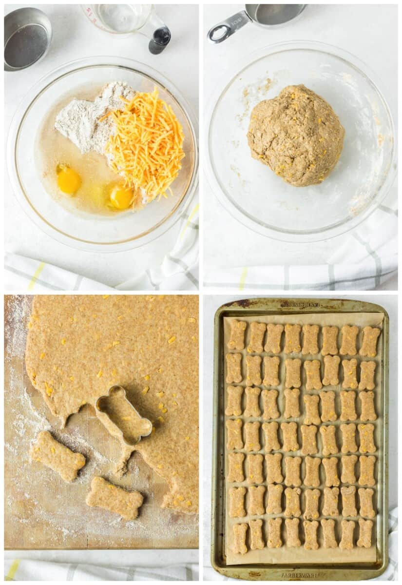 step by step photos for how to make cheese dog treats