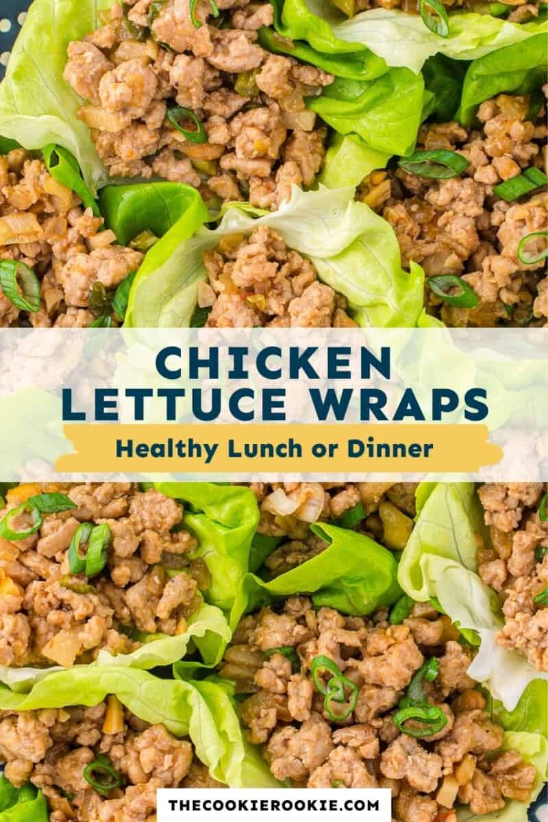 chicken lettuce wraps pinterest