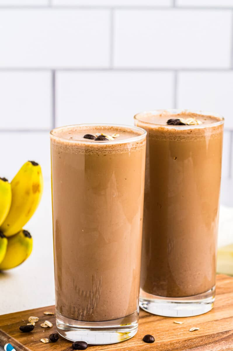 two coffee smoothies
